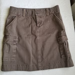 Brown Old Navy Cargo Skirt with Pockets, Size 4